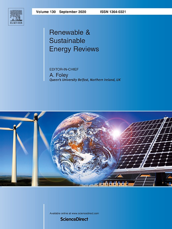 Renewable and Sustainable Energy Reviews cover