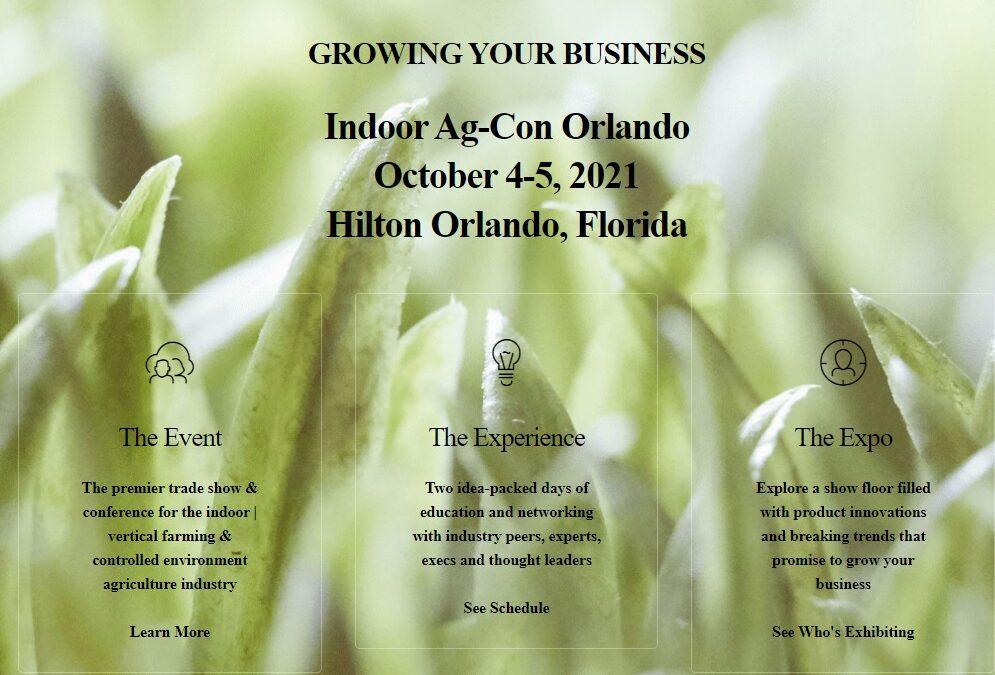 Indoor Ag-Con Orlando Oct 4-5, 2021